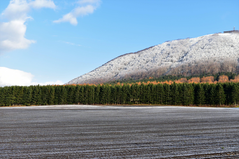 そりおい山に降る雪