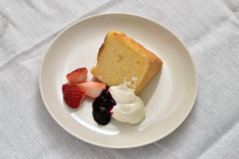 別腹のシフォンケーキ