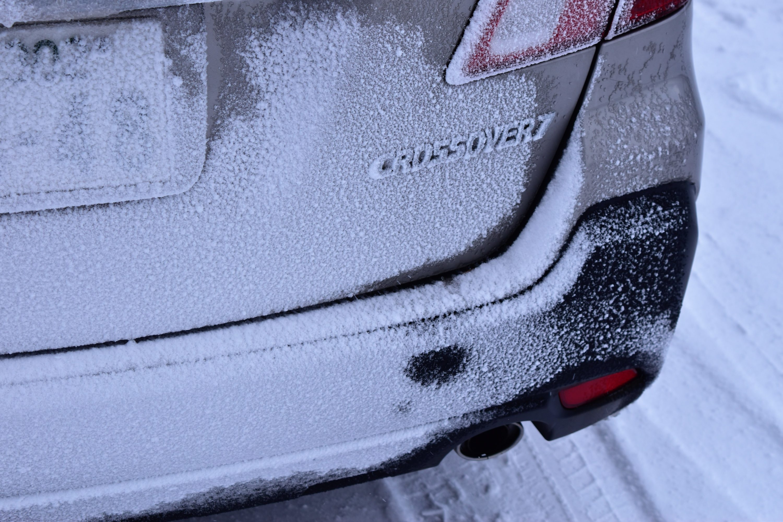 車が凍りつくほどの風雪