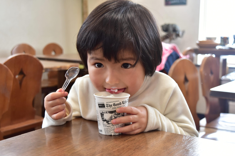 ソフトクリームと長女