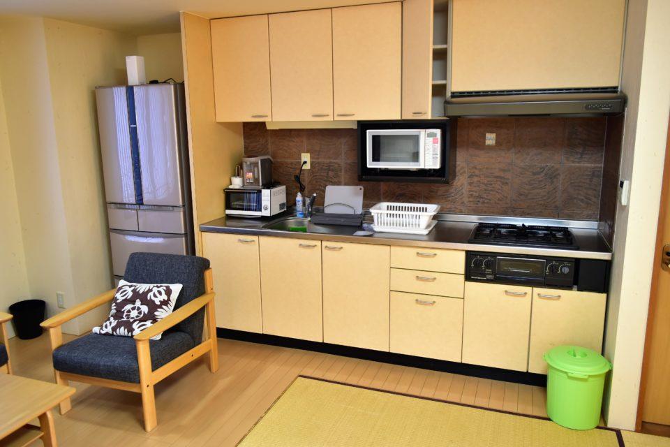 貸別荘のキッチン