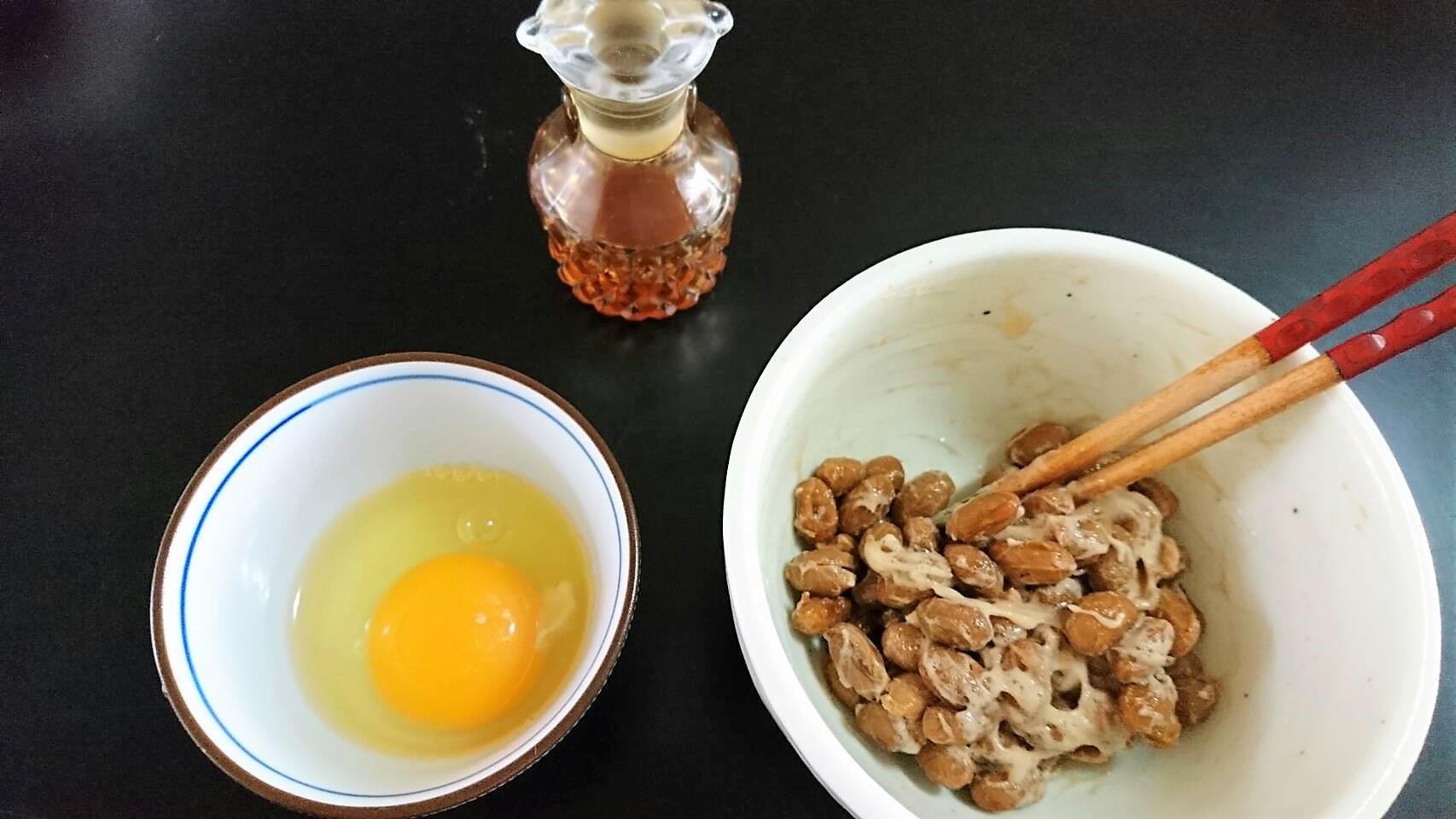 納豆と玉子