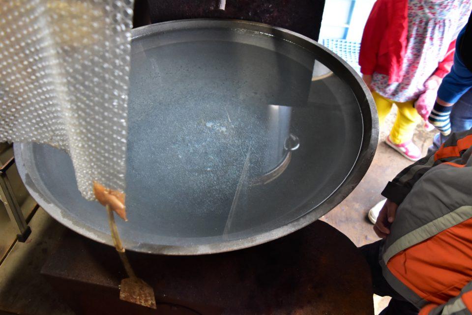 平窯に張られた海洋深層水